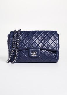 What Goes Around Comes Around Chanel Blue Lamb New Classic Jumbo Bag