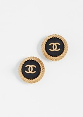 What Goes Around Comes Around Chanel Button Earrings