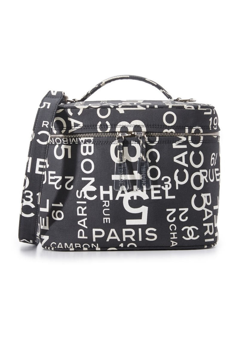 67498ec3034e What Goes Around Comes Around Chanel Canvas Vanity Bag (Previously Owned)