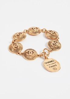 What Goes Around Comes Around Chanel CC Burst Coin Bracelet