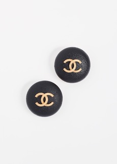 What Goes Around Comes Around Chanel CC Round Earrings