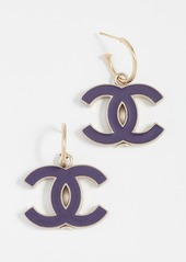 What Goes Around Comes Around Chanel Enamel CC Earrings