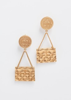 What Goes Around Comes Around Chanel Flapbag Earrings