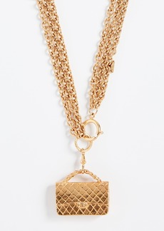What Goes Around Comes Around Chanel Flapbag Necklace