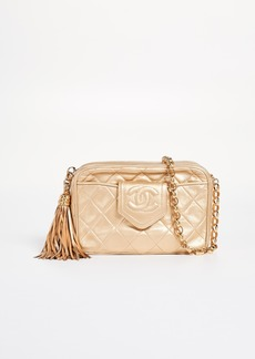 What Goes Around Comes Around Chanel Gold CC Tab Camera Small