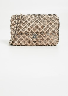 """What Goes Around Comes Around Chanel Gold Sequin Half Flap 9 Bag"""""""
