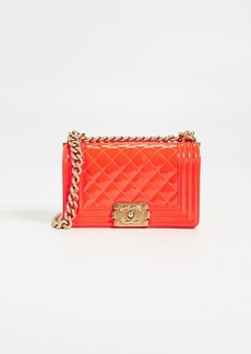 What Goes Around Comes Around Chanel Patent Boy Small Bag