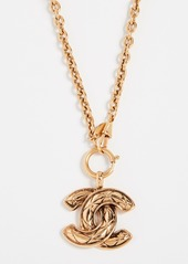 What Goes Around Comes Around Chanel Quilted CC Necklace