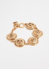 What Goes Around Comes Around Chanel Quilted Coin Bracelet