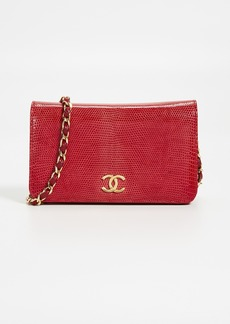 What Goes Around Comes Around Chanel Red Lizard Snap Small Bag