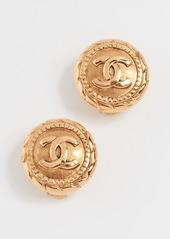 What Goes Around Comes Around Chanel Rope Edge CC Earrings