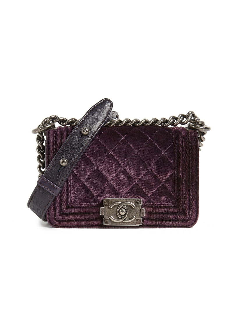 86ba7ae31434 What Goes Around Comes Around Chanel Velvet Boy Mini Bag (Previously Owned)