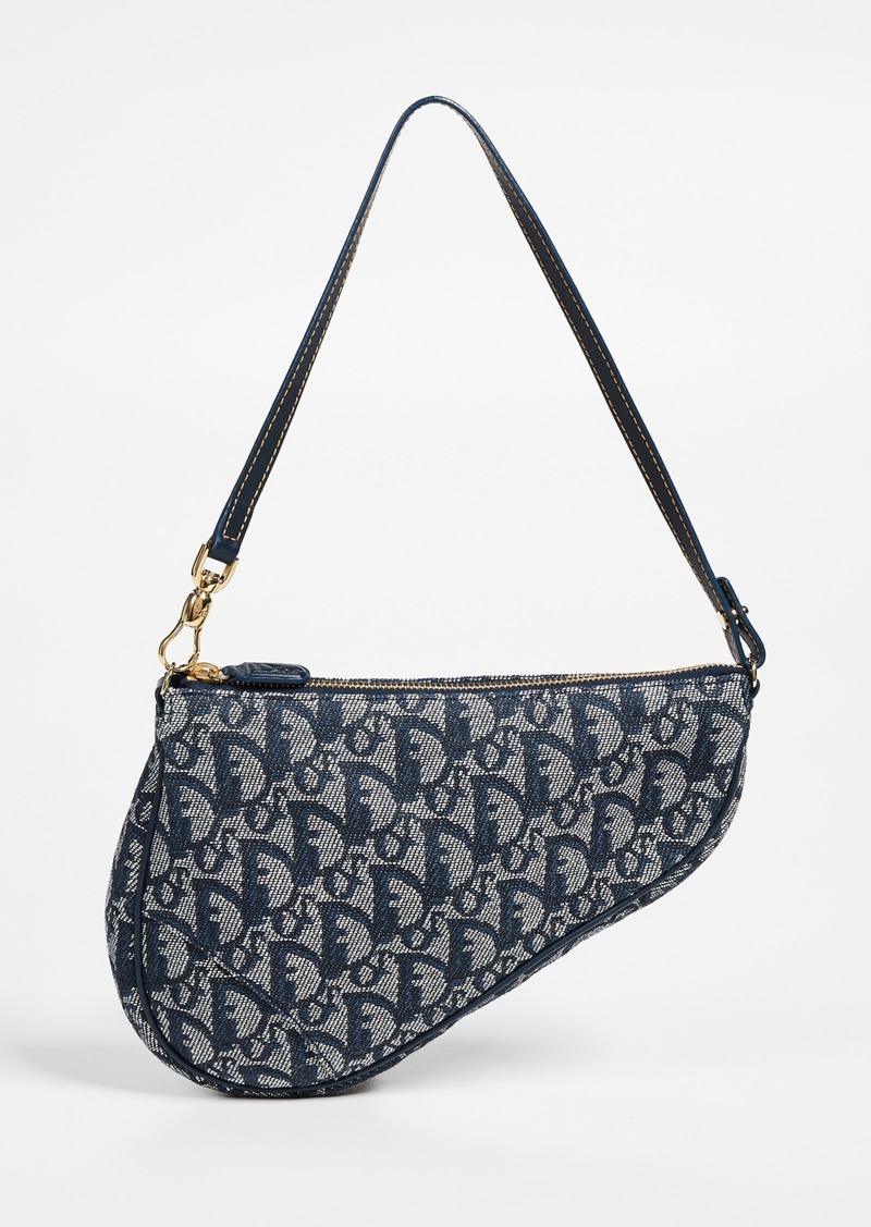 What Goes Around Comes Around Dior Black Canvas Saddle Mini Bag
