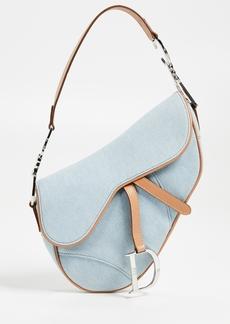 What Goes Around Comes Around Dior Denim Saddle Bag