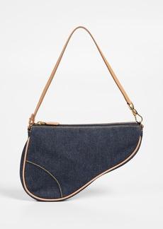 What Goes Around Comes Around Dior Denim Saddle Mini Bag