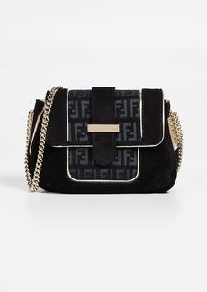 What Goes Around Comes Around Fendi Black Suede Shoulder Bag