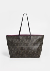 What Goes Around Comes Around Fendi Brown Coated Canvas Bag