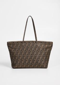 What Goes Around Comes Around Fendi Brown Zucca Roll Bag