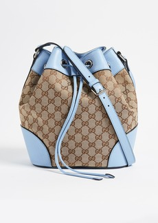 8a15bd45019f What Goes Around Comes Around Gucci Canvas Classic Bucket Bag (Previously  Owned)