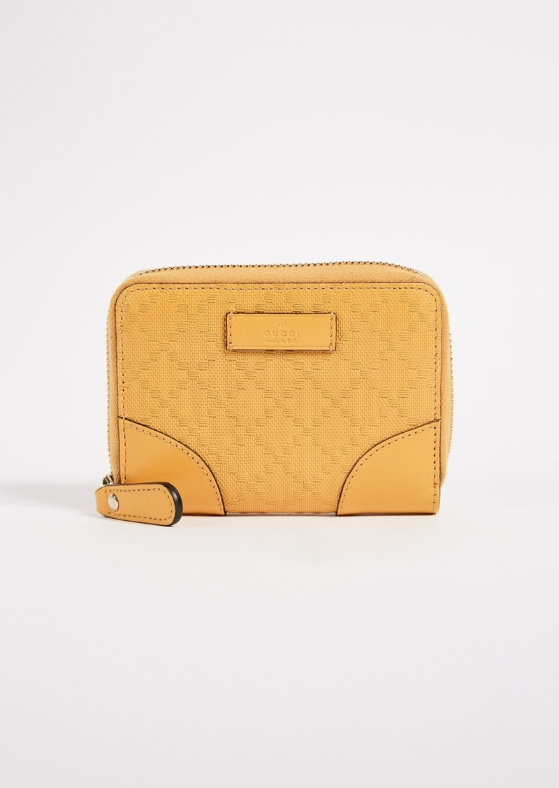 b048d9b3049 What Goes Around Comes Around Gucci Yellow Diamante Zip Wallet (Previously  Owned)