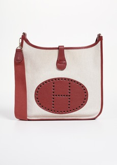 What Goes Around Comes Around Hermes Red Toile Evelyne I PM Bag