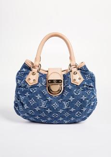 What Goes Around Comes Around Louis Vuitton Blue Denim Pleaty Handbag