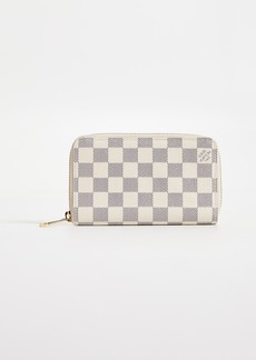 What Goes Around Comes Around Louis Vuitton Damier Ebene Azur Zippy Compact Wallet
