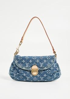 What Goes Around Comes Around Louis Vuitton Denim Pleaty Mini Shoulder Bag