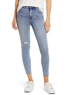 Whetherly Cooper High Waist Raw Hem Crop Skinny Jeans (Medium Los Angeles)
