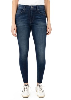 Whetherly Cooper High Waist Raw Hem Skinny Jeans