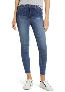 Whetherly Cooper High Waist Raw Hem Skinny Jeans