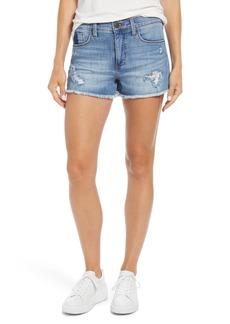 Whetherly Delon High Waist Cutoff Shorts (Medium Brienz)