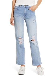 Whetherly James High Waist Ripped Wide Leg Jeans (Lucerne)