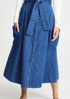Whit Pocket Skirt