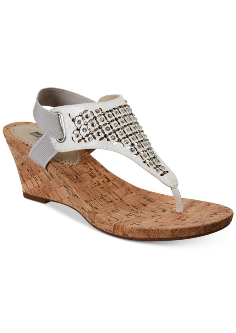 784c7576ec5b On Sale today! WHIT White Mountain Arnette Embellished Wedge Sandals ...