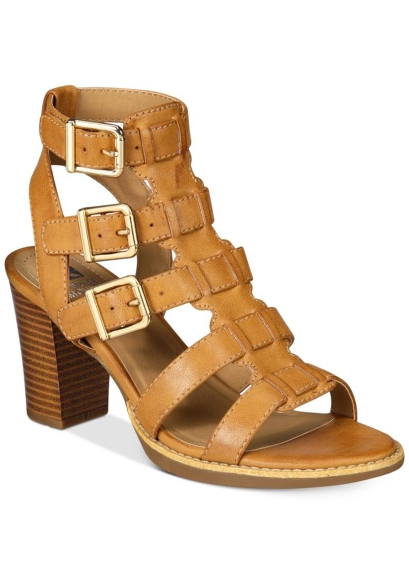 92b3a588134 SALE! WHIT White Mountain Gemmy Block-Heel Dress Sandals Women s Shoes