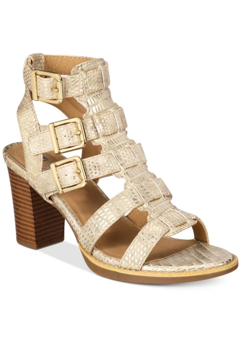 7afd7cc270b WHIT White Mountain Gemmy Block-Heel Dress Sandals Women s Shoes