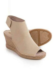 White Mountain Lockhart Wedge Sandals - Vegan Leather (For Women)