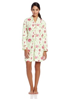 White Orchid Women's Wine Country Sleepshirt Green  Floral