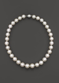 White South Sea Cultured Pearl Necklace in 14K White Gold, 18""