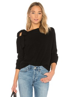 White + Warren Asymmetrical Shoulder Sweater