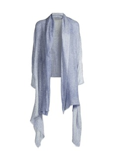 White + Warren Spray-Dyed Woven Cashmere Wrap