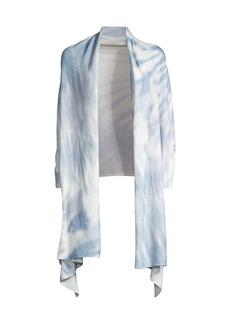 White + Warren Tie-Dyed Cashmere Mini Travel Wrap