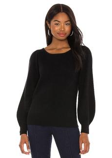 White + Warren Blouson Sleeve Boatneck Sweater