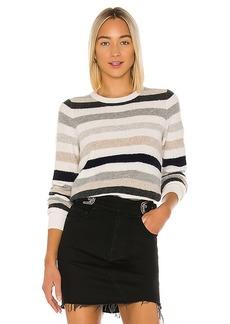 White + Warren Bold Stripe Sweatshirt