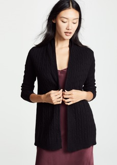 White + Warren Cable Cashmere Cardigan