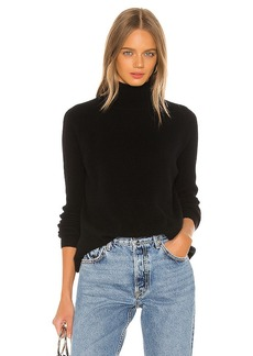 White + Warren Eliptical Hem Mockneck Sweater