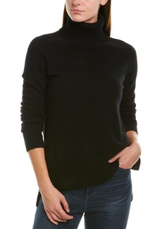 White + Warren High-Low Cashmere Turtleneck
