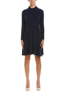 White + Warren Mock Neck Cashmere Sweaterdress