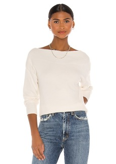 White + Warren Open Neck Pullover Sweater